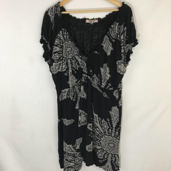 dc35675d00d20 Joe Browns Dresses | Mini Dress Black Boho Design Sz 24 B28 | Poshmark